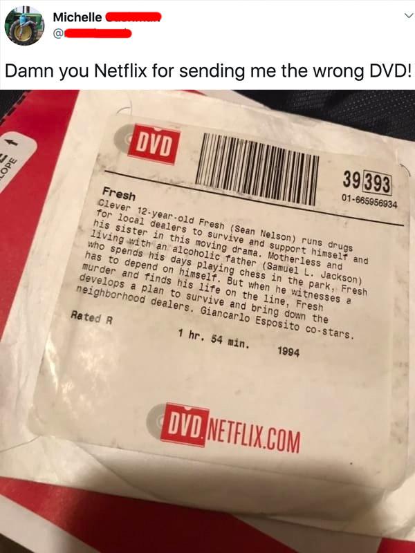 tweet reading damn you netflix for sending me the wrong dvd