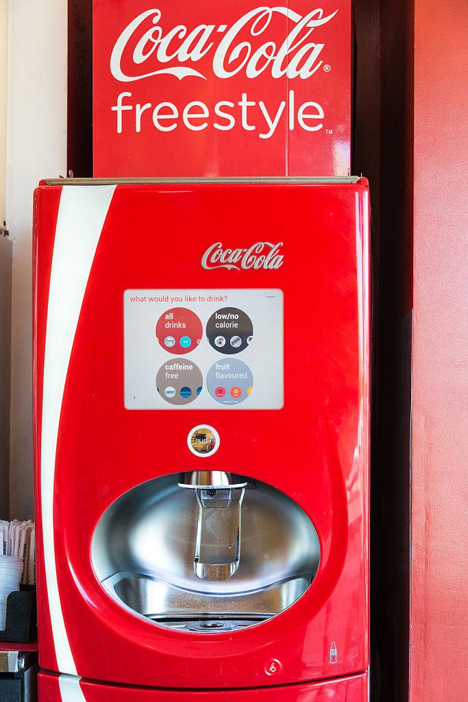 A Coke Freestyle machine