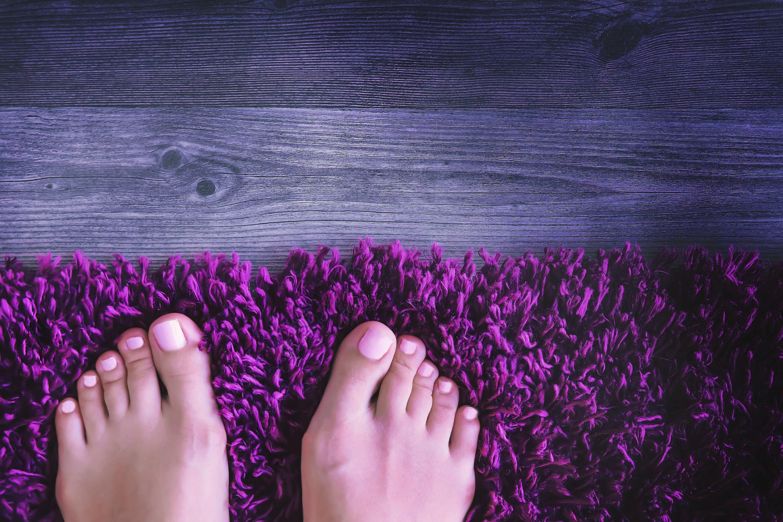 Bare feet on a carpet