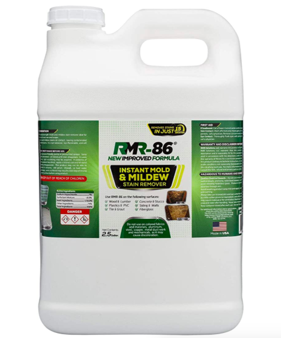 The 2.5 Gallon container of RMR-86 Instant Mold and Mildew Stain Remover