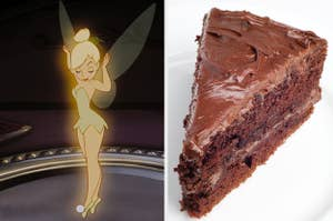 On the left, Tinker Bell from