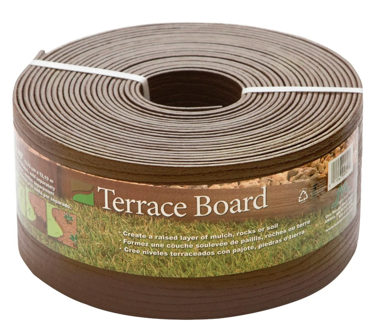 A roll of brown terrace board
