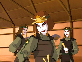Suki, who is one of the Kyoshi Warriors