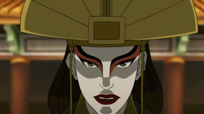 Avatar Kyoshi looking front-on