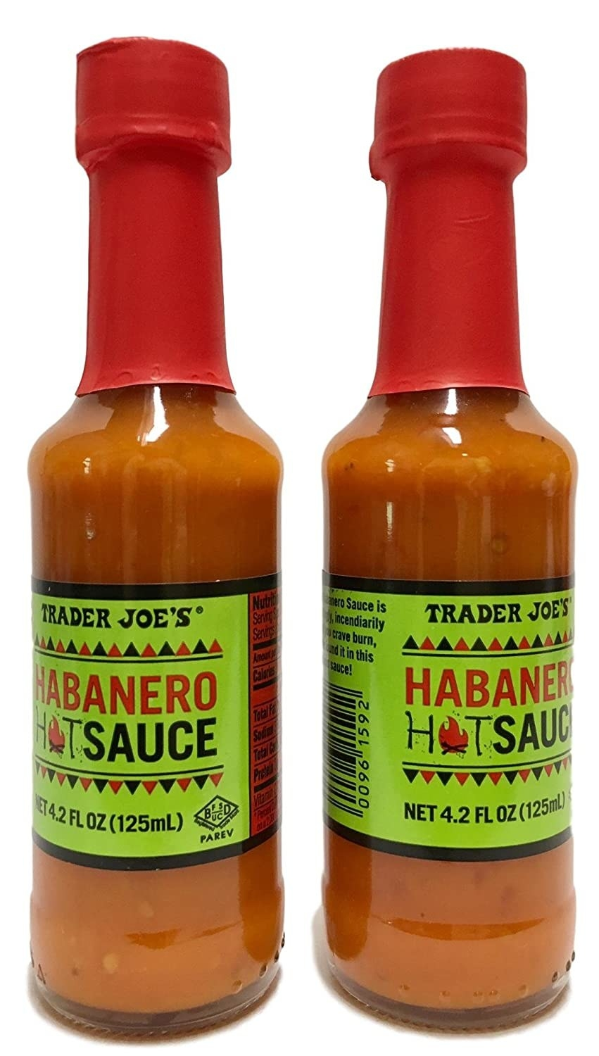 Two bottles of Trader Joe's Habanero Hot Sauce