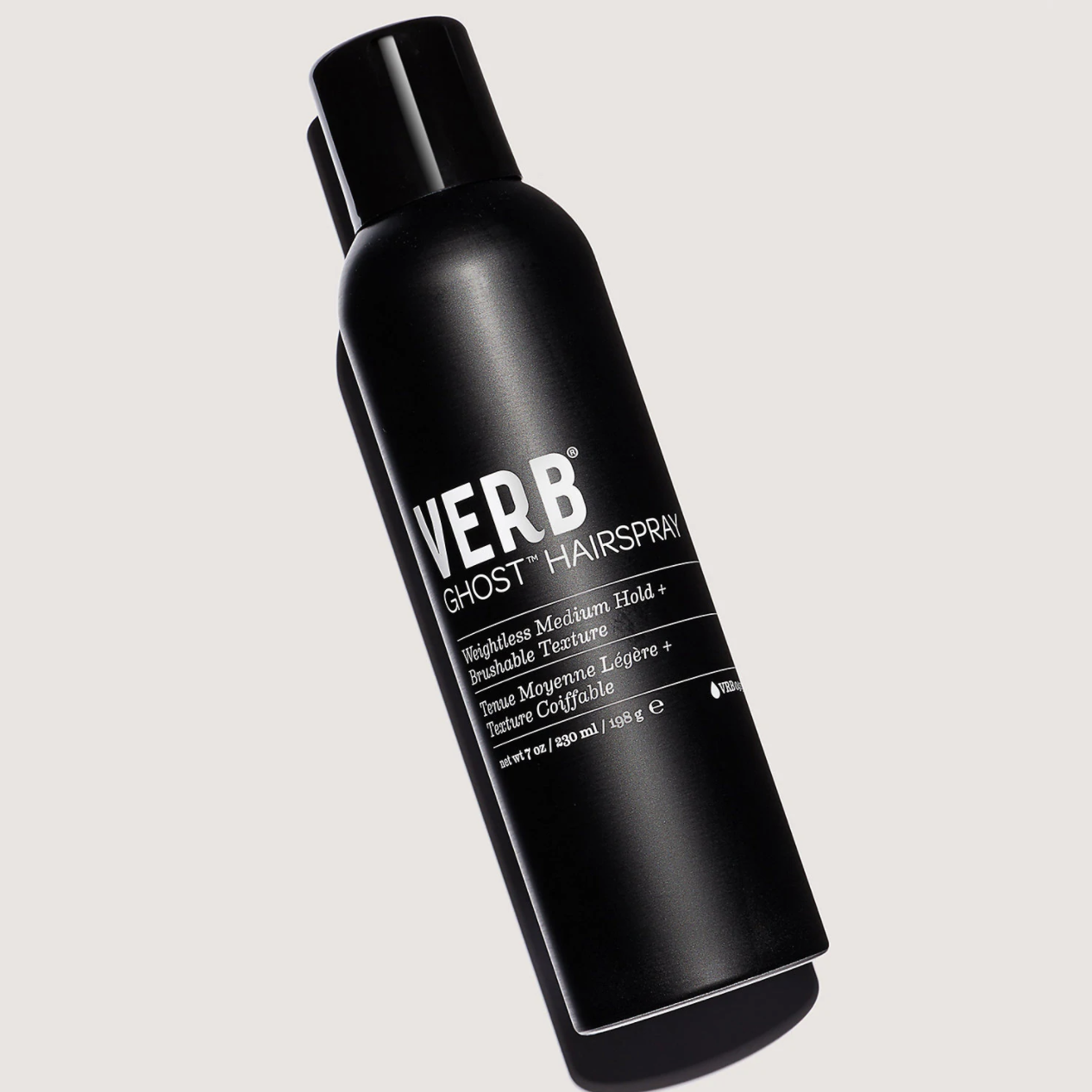 The hairspray bottle
