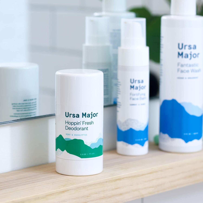 Product photo showing Ursa Major Hoppin' Fresh Deodorant in mint and eucalyptus.