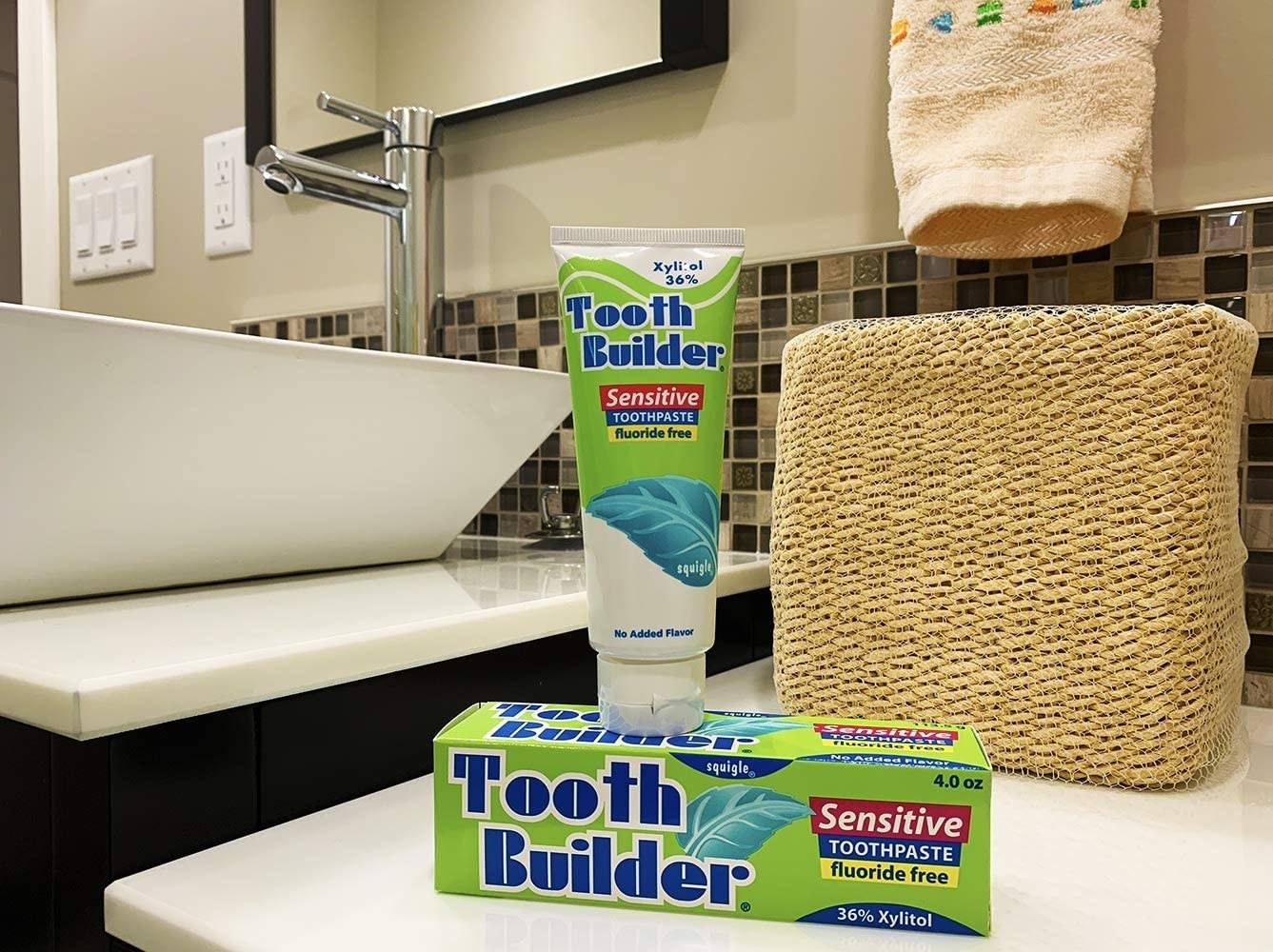 Tooth Builder Fluoride Free Sensitive Toothpaste