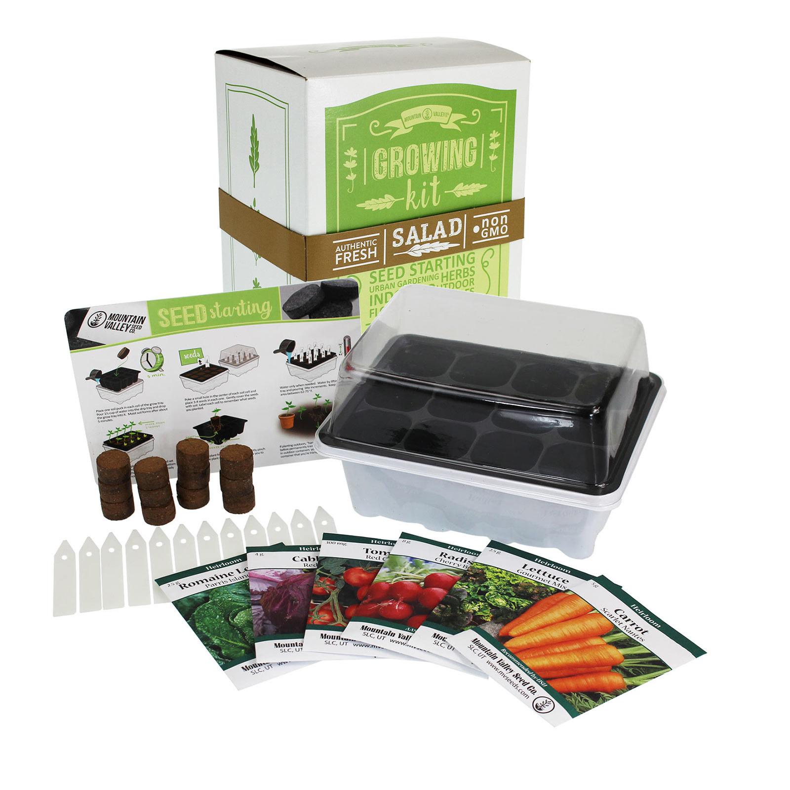 The complete Salad & Vegetable Garden Seed Starter kit