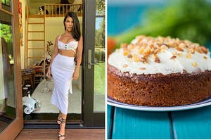 Kourtney Kardashian and a carrot cake.