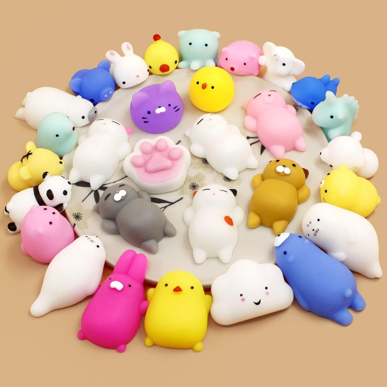 The mini animal-shaped squishies