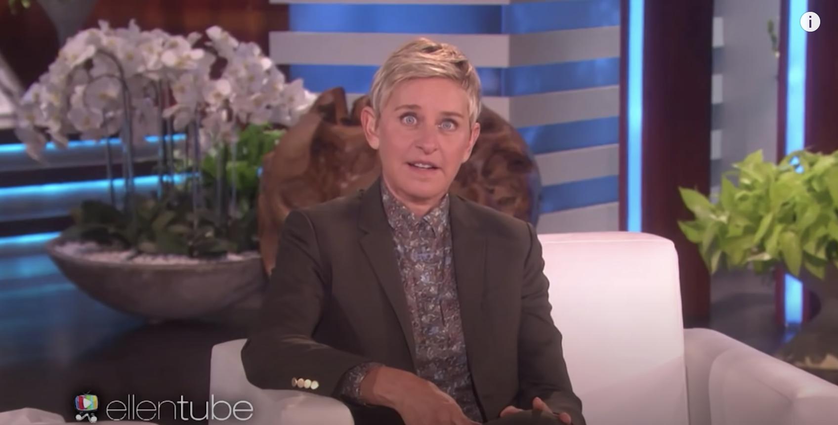 Ellen making a face about Jessica Simpson