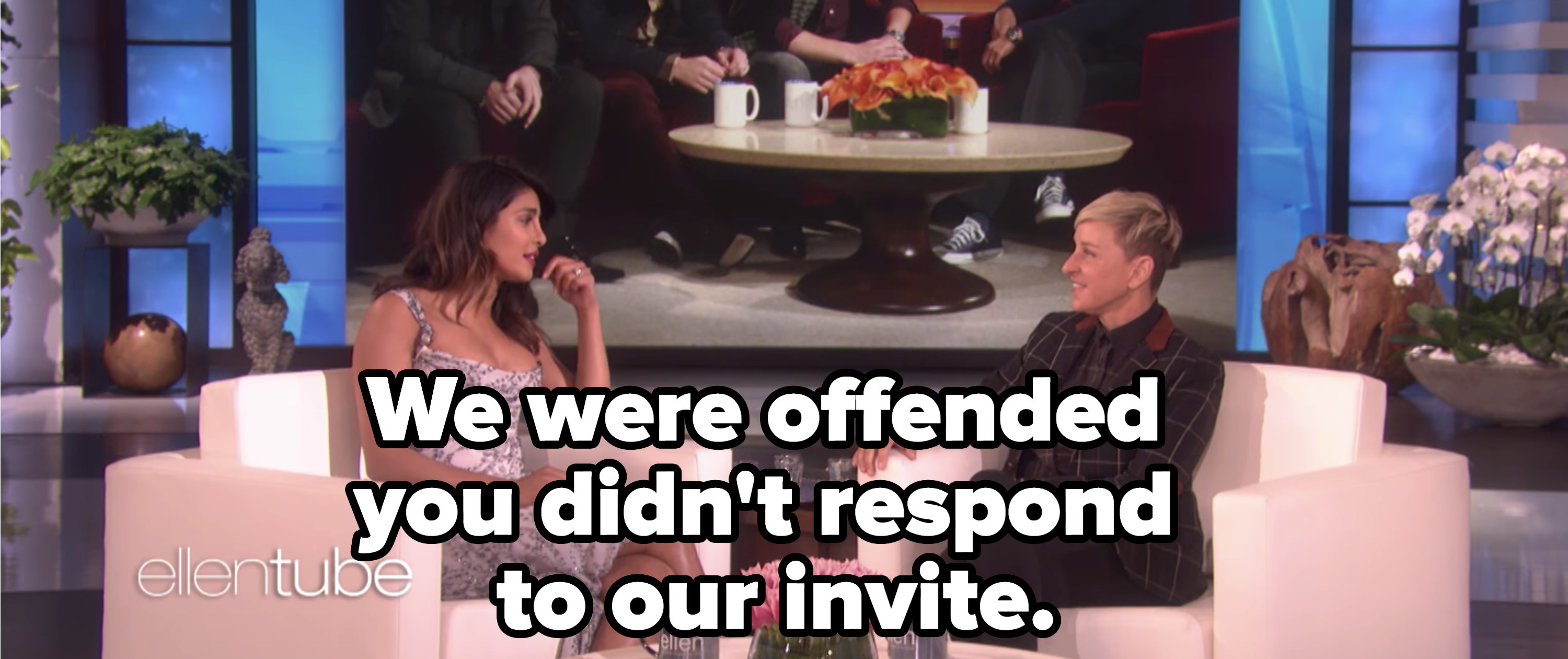 """She said """"We were offended you didn't respond to our invite."""""""