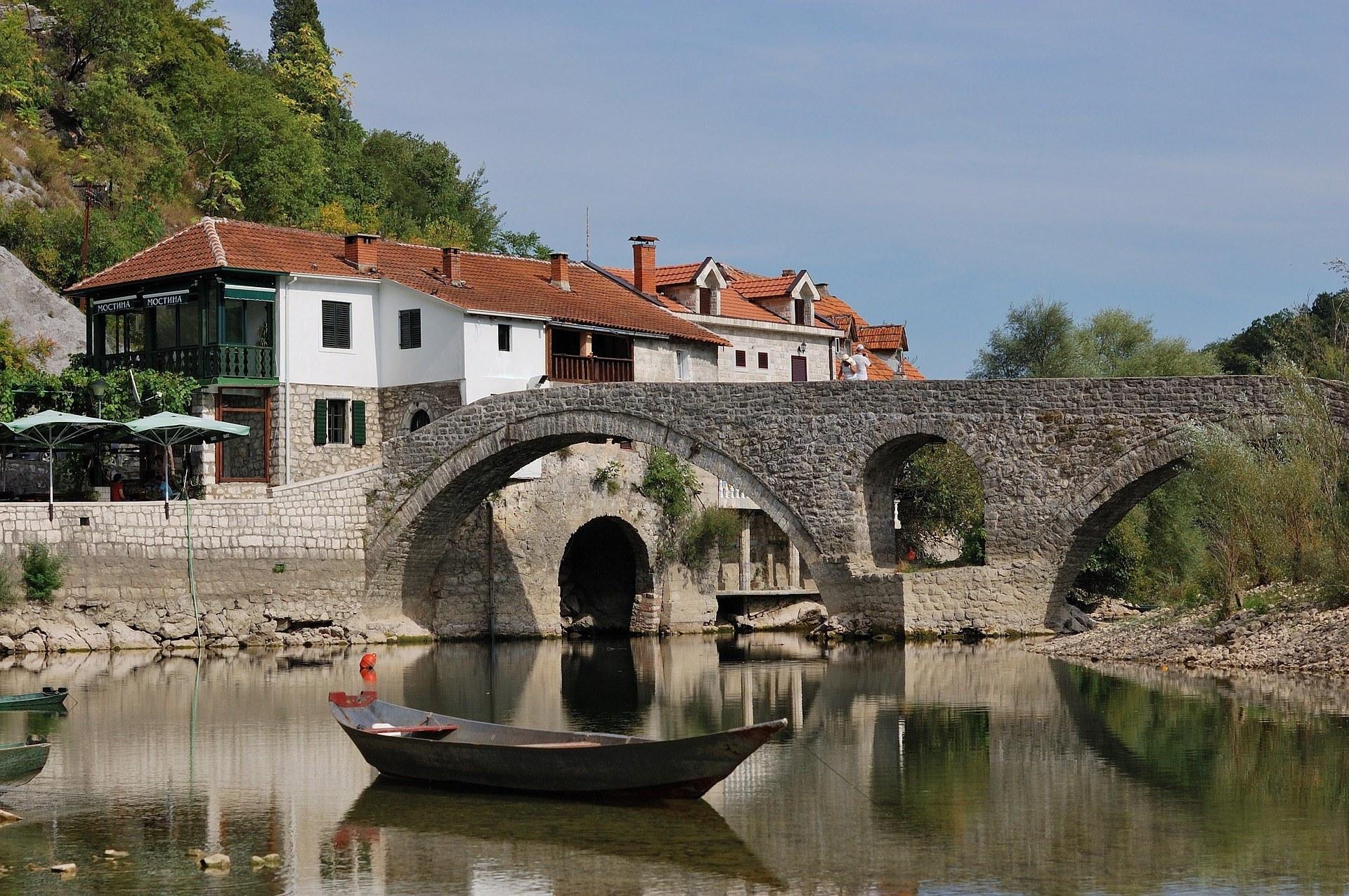 A bridge over a river in Montenegro.