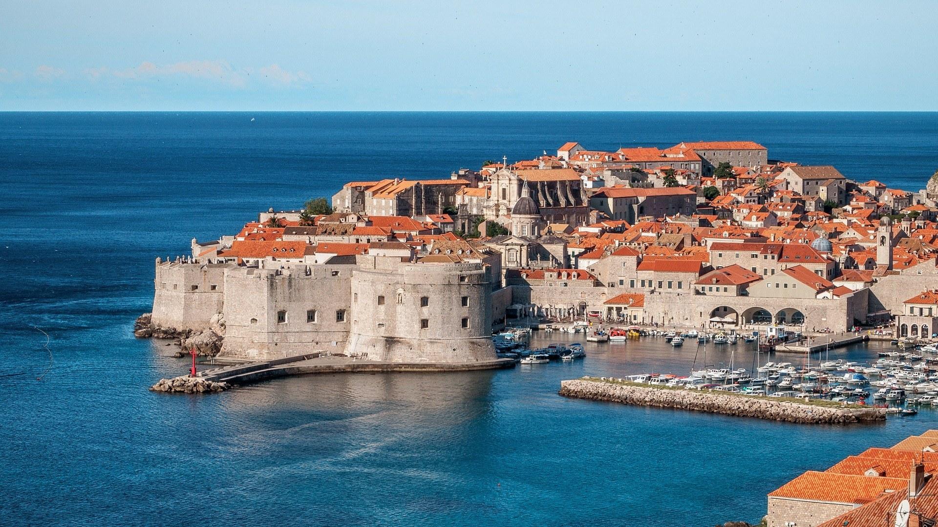 Dubrovnik on the coast of Croatia.