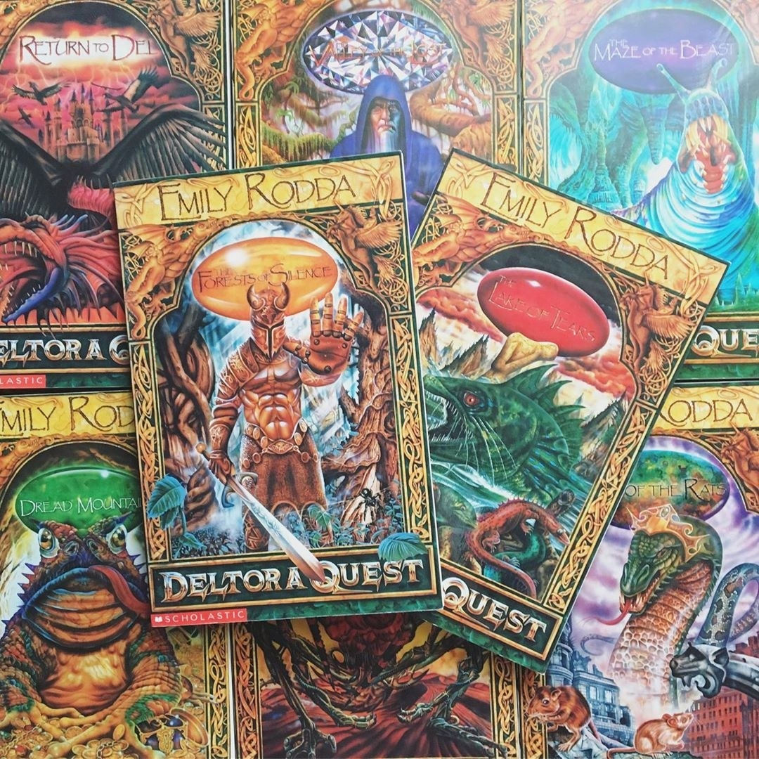 A pile of books from the Deltora Quest series.