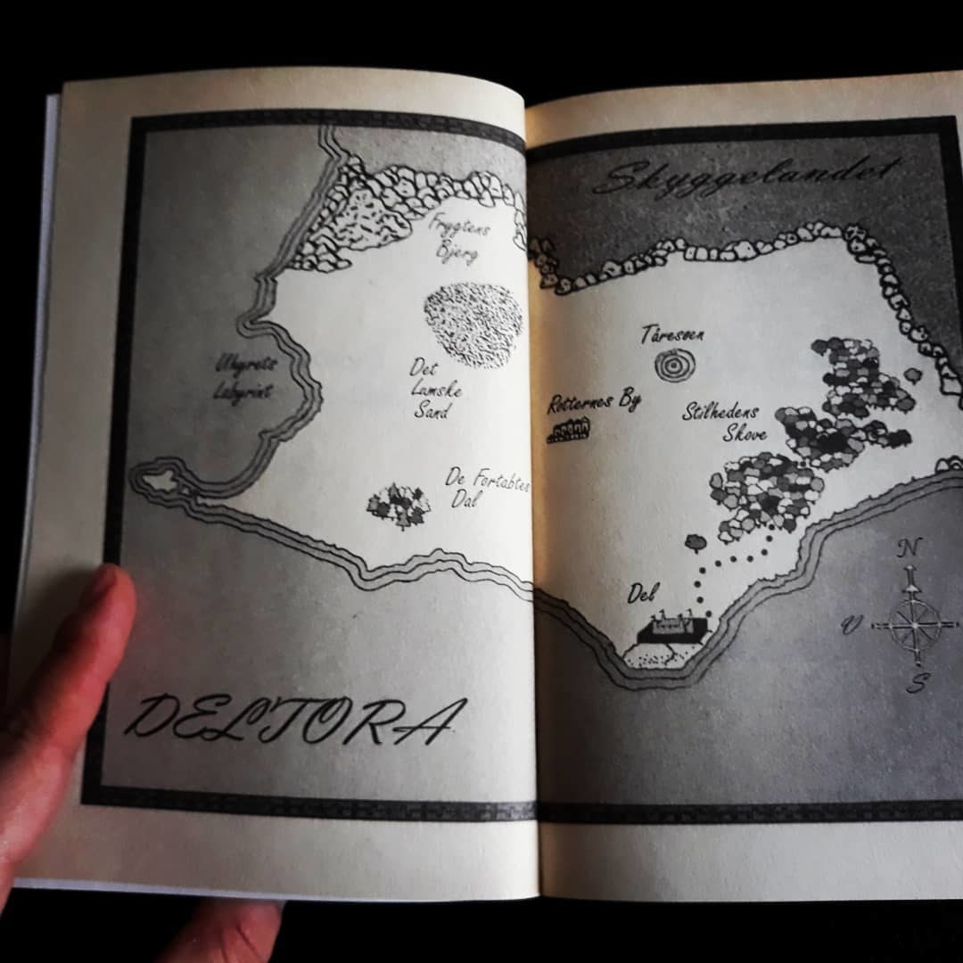 The inside map of the Deltora land.