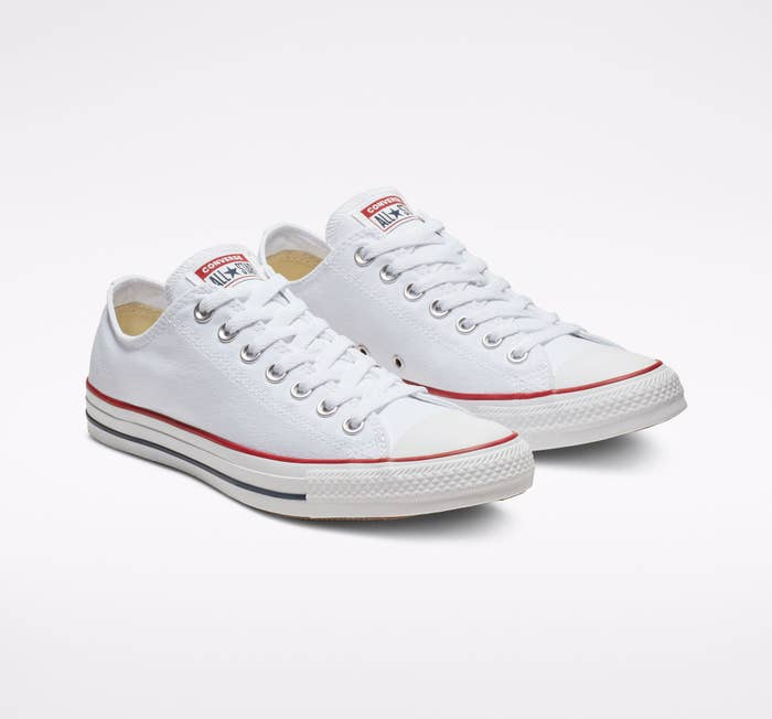 A classic pair of Converse low top sneakers