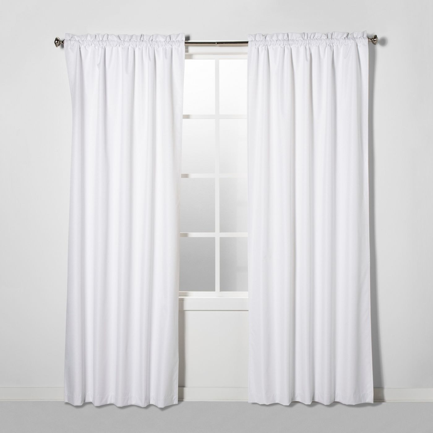 The white curtains