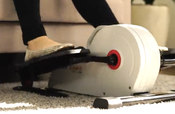Model pedaling on the small elliptical pedals