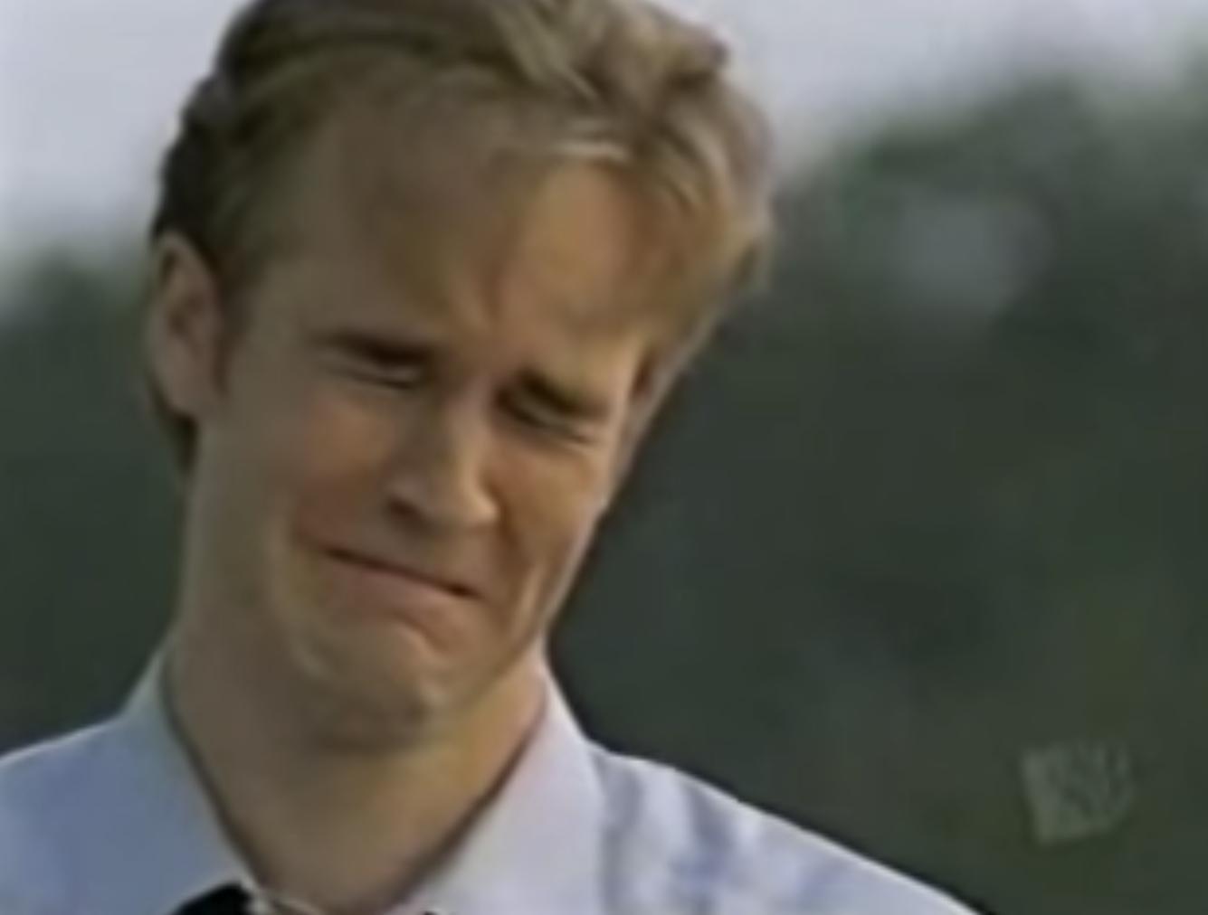 Dawson crying because Joey left him.
