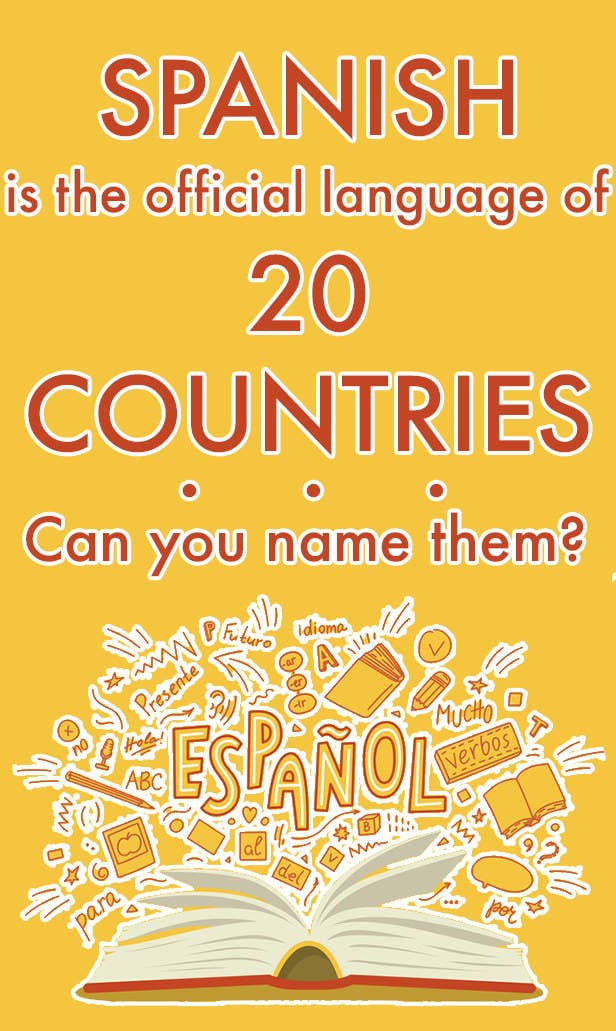 Spanish is the official language of 20 countries. Can you name them?