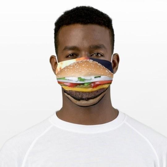 burger on mask