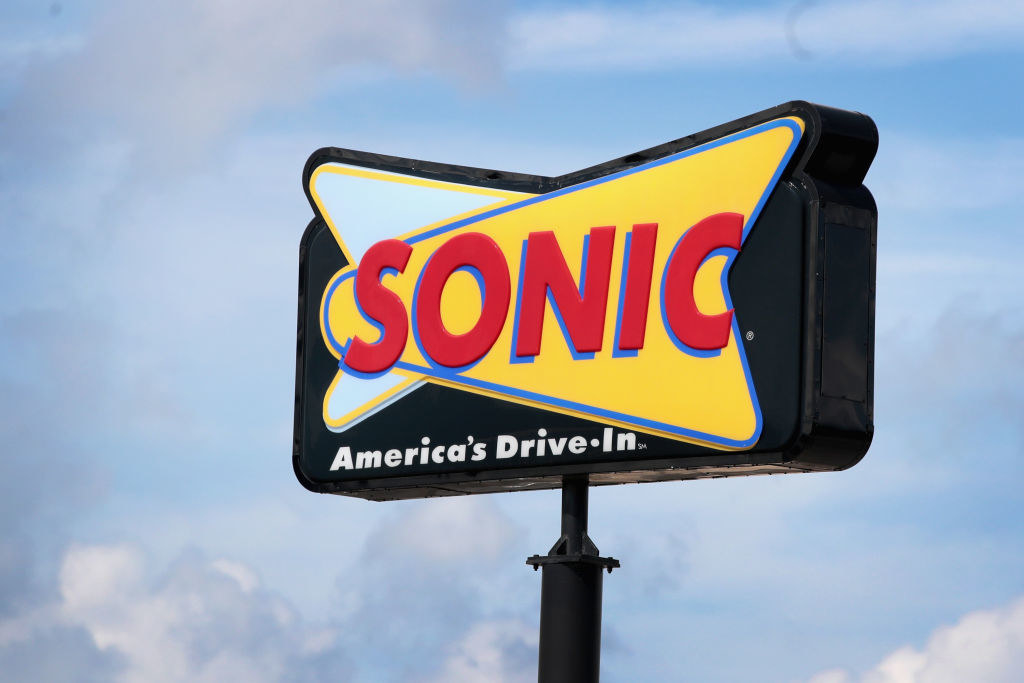 A Sonic drive-in sign