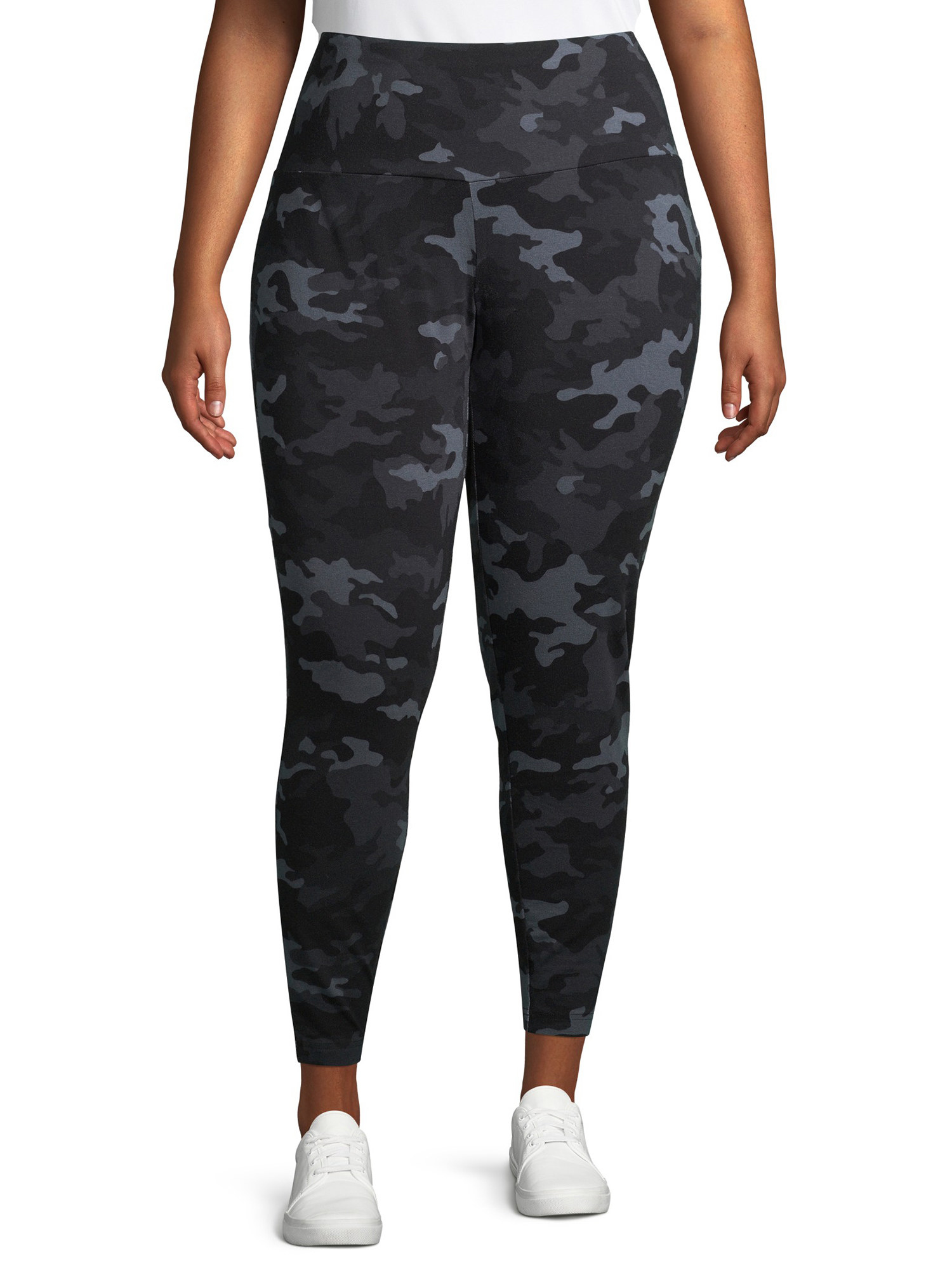 The grey and black camo leggings