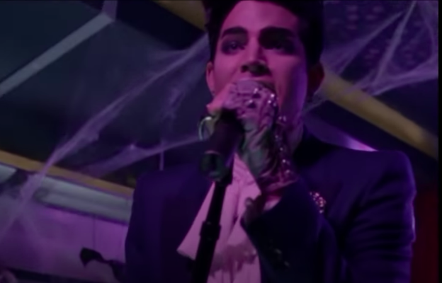 Adam Lambert performing a concert in the episode