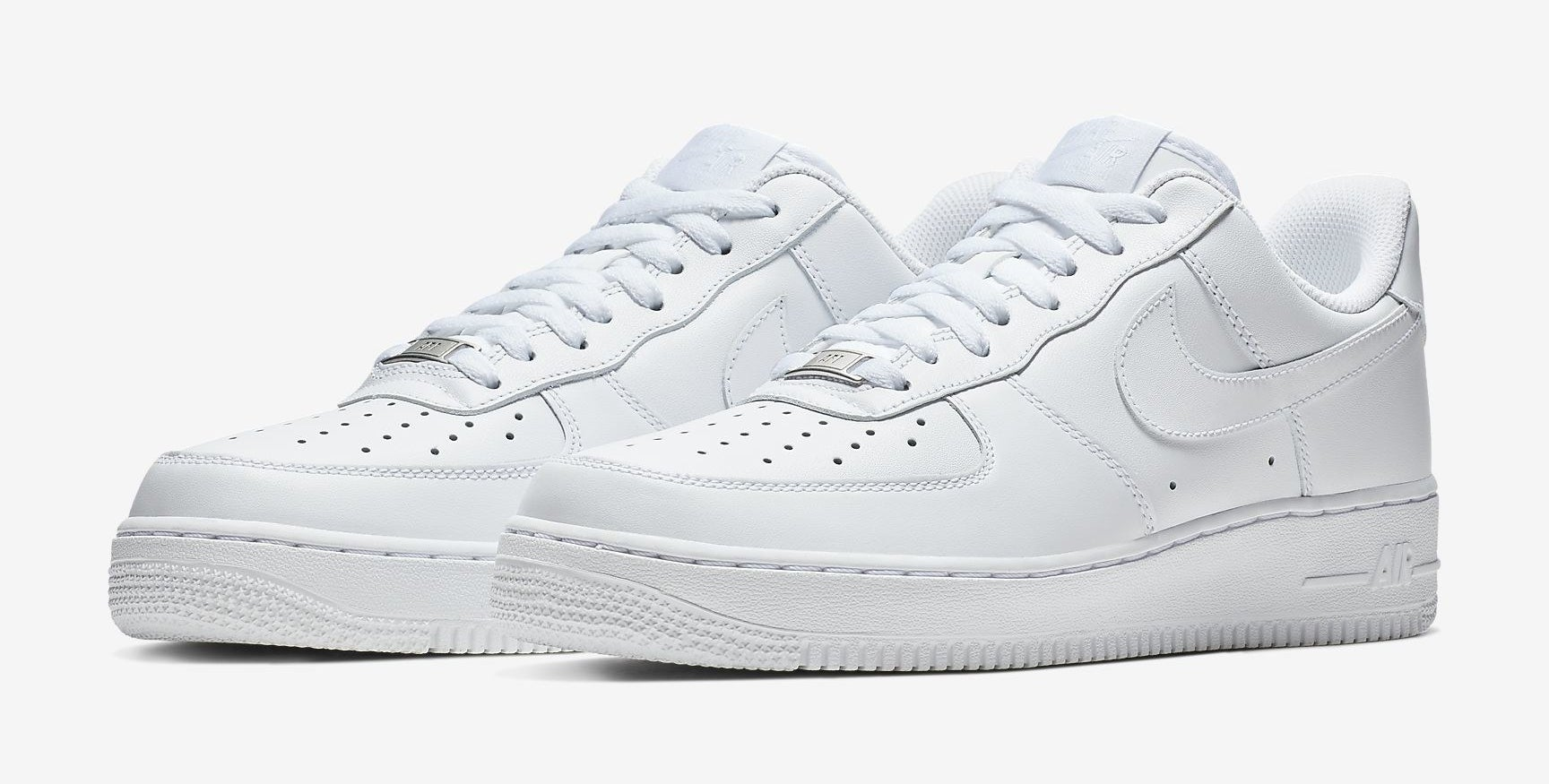 The shoes in white