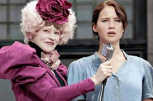 Effie and Katniss from The Hunger Games