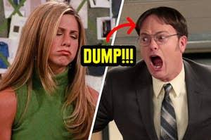 Rachel dumping Dwight