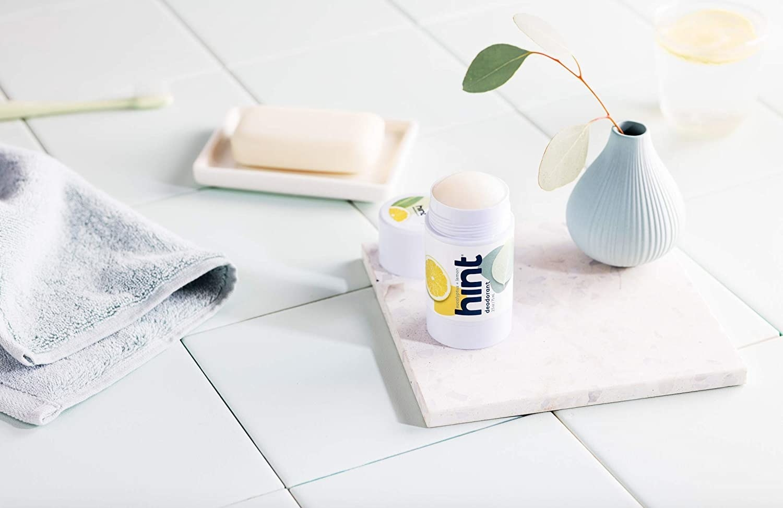 Product photo showing Hint eucalyptus and lemon 1oz deodorant