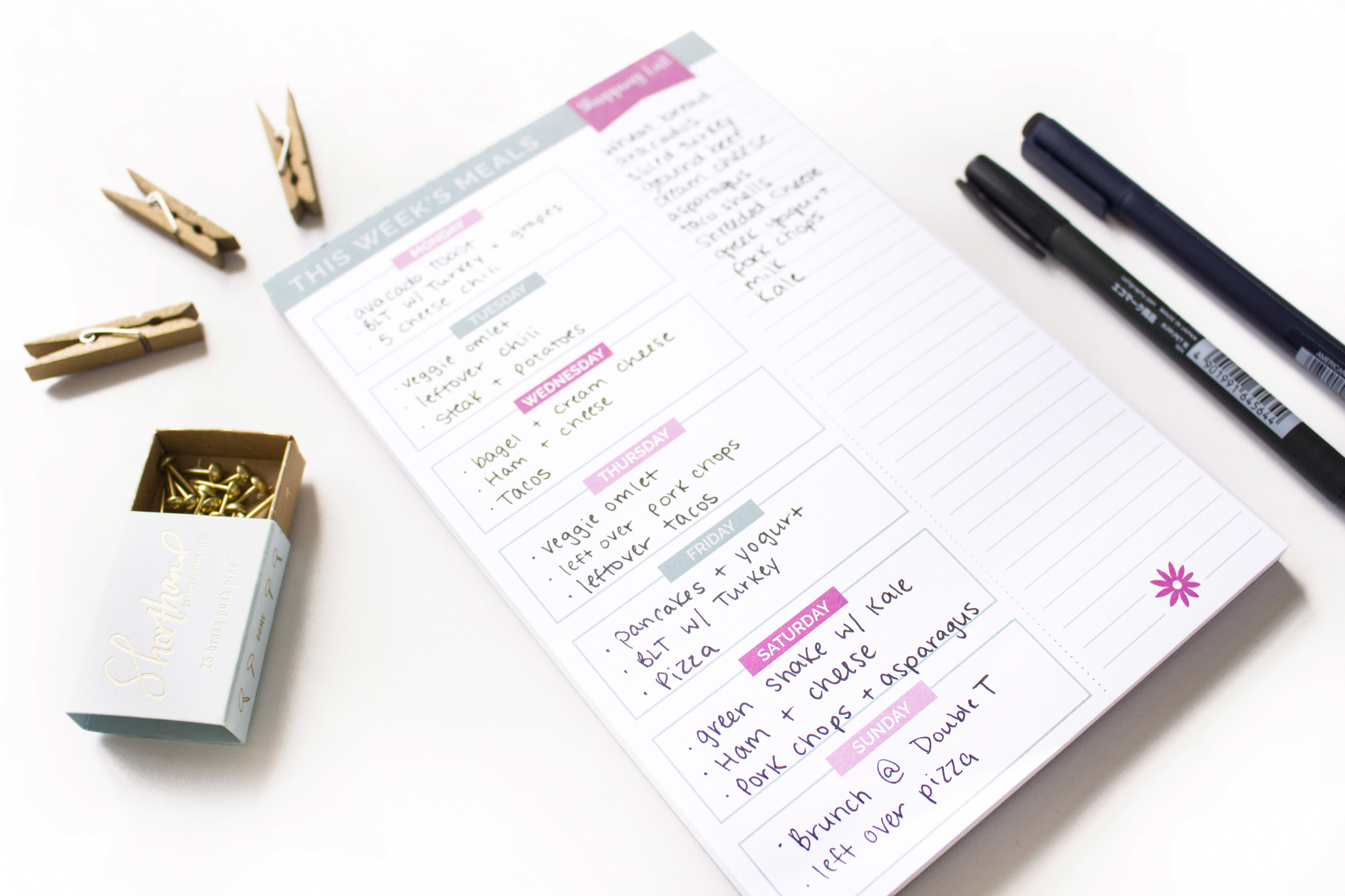 Product photo showing Bloom Daily Meal Planner