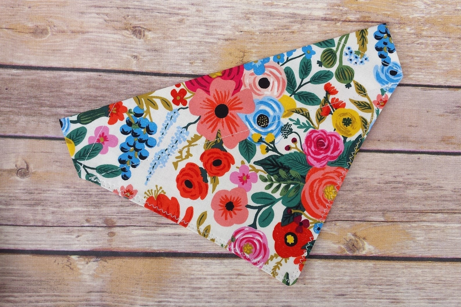 The colorful floral bandana