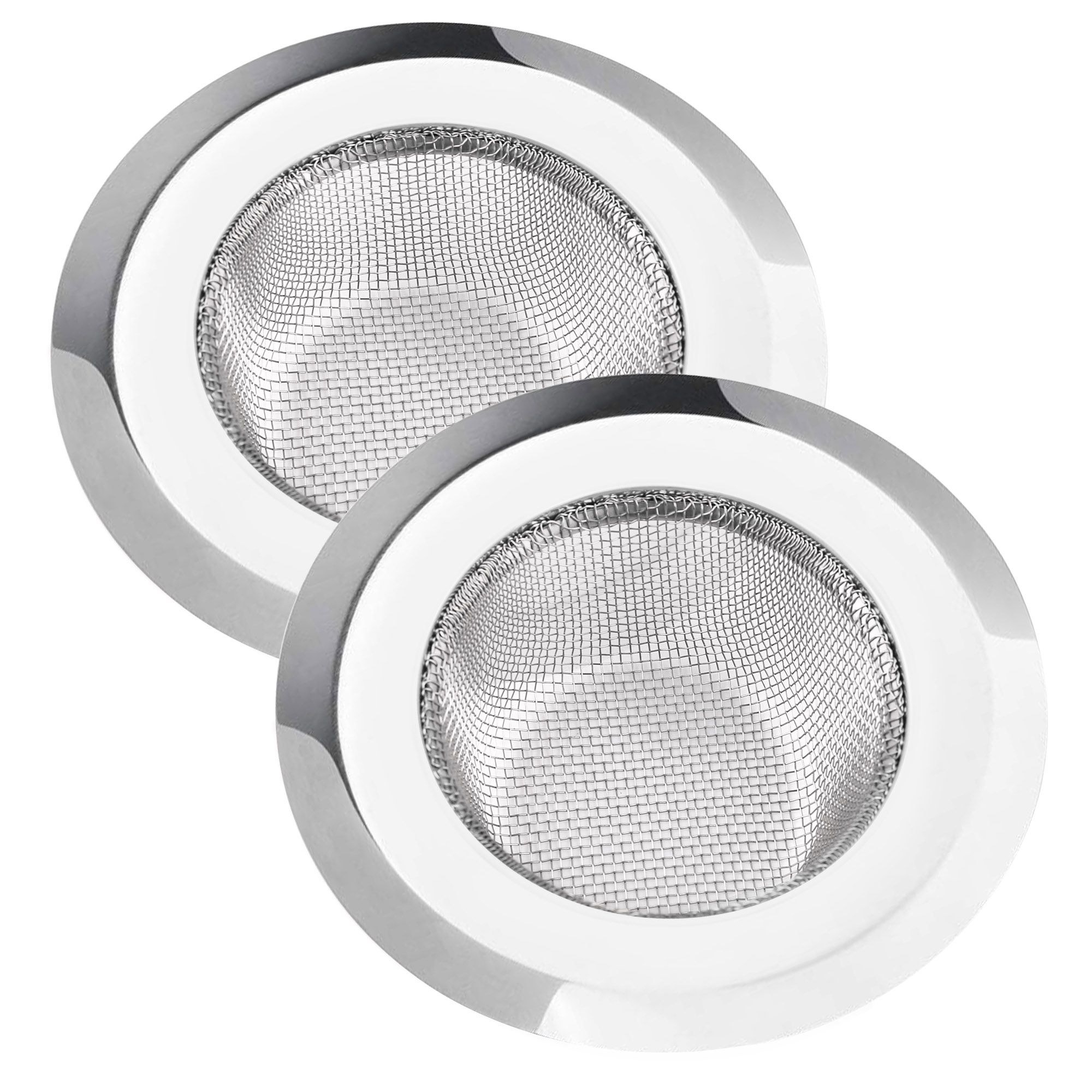 Product photo showing kitchen sink strainers