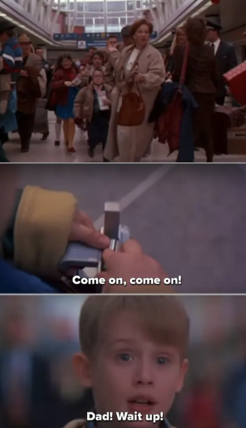 "Kevin getting lost in the airport in ""Home Alone 2"""
