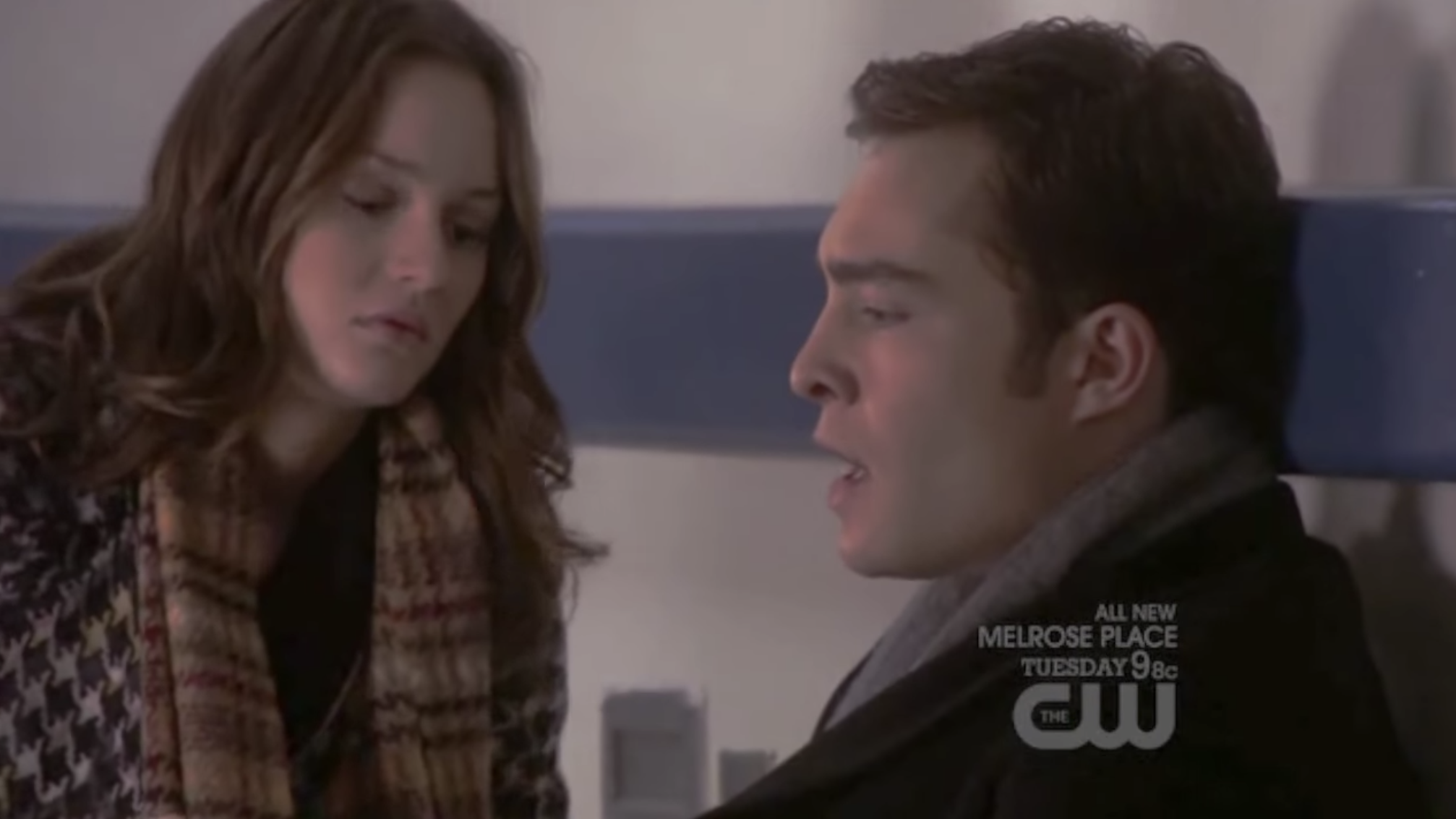 Blair comforting Chuck in the hospital.