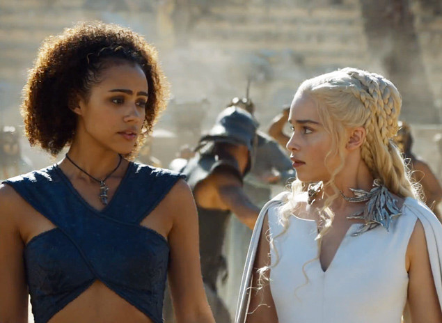 """Missandei and Daenerys from """"Game of Thrones"""""""