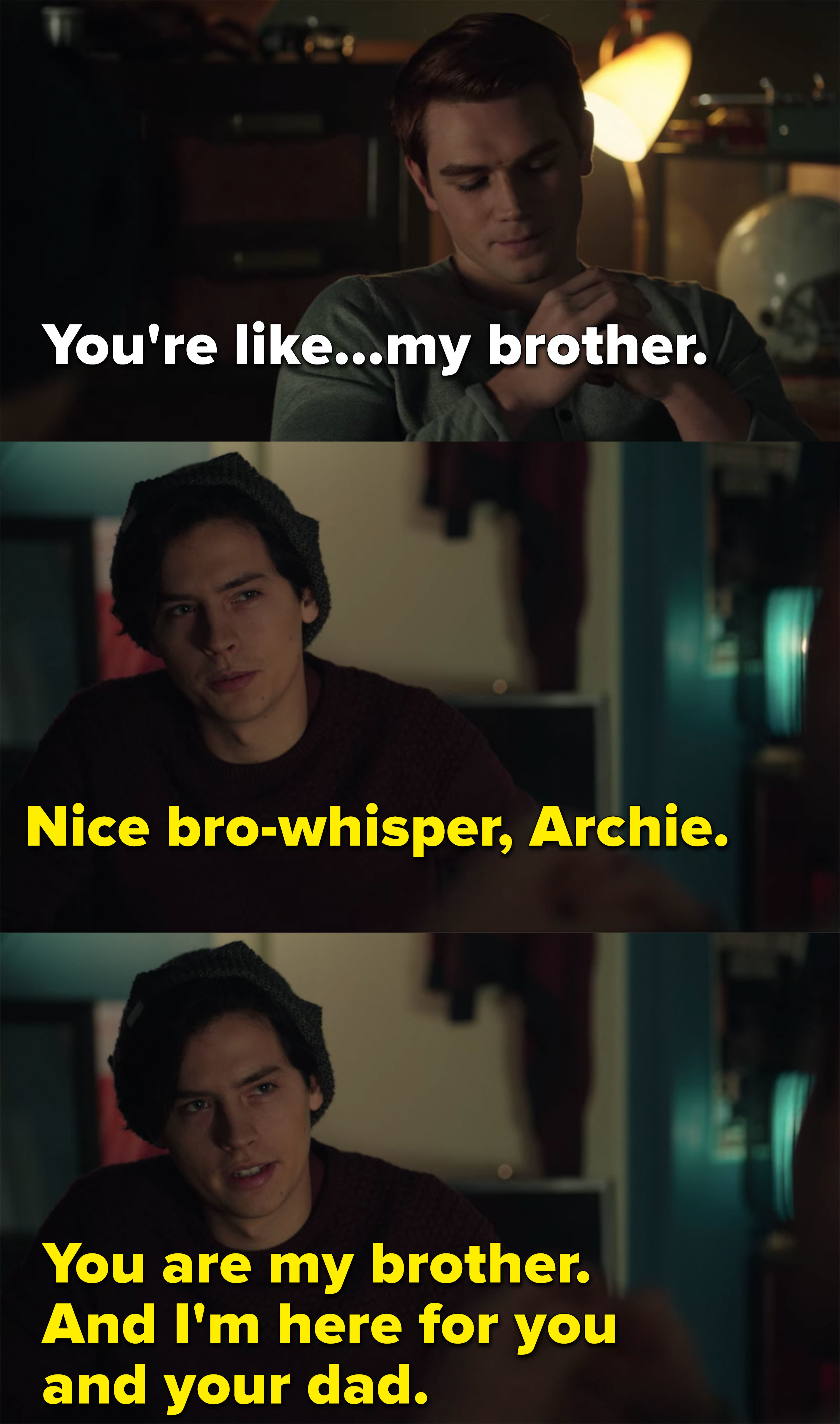 Archie and Jughead call each other brothers