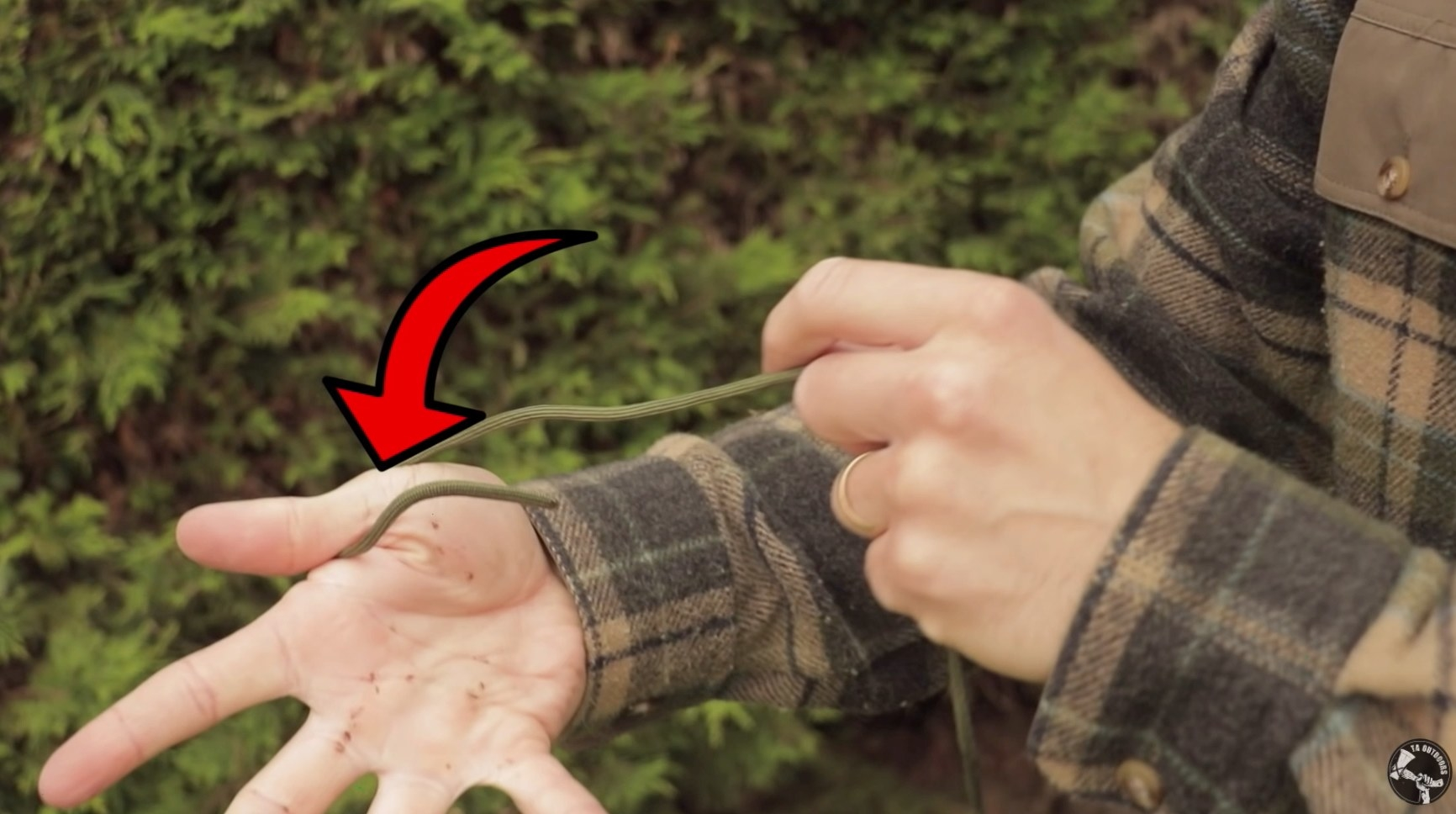 How to make a hank of rope