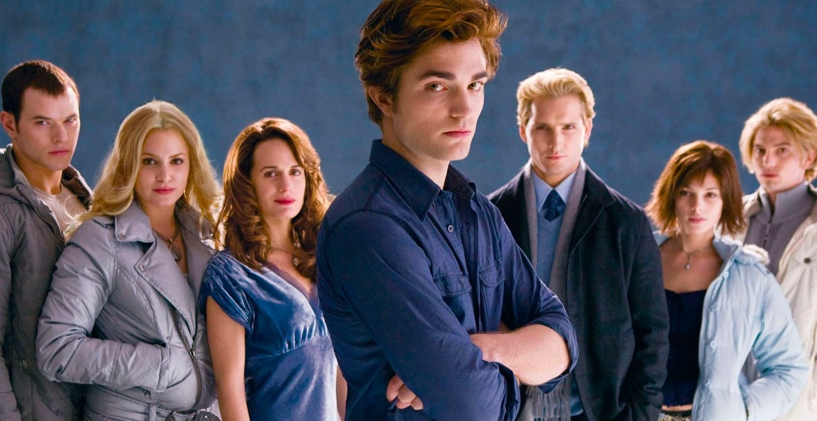 Promo shot of the Cullen family from the first Twilight movie