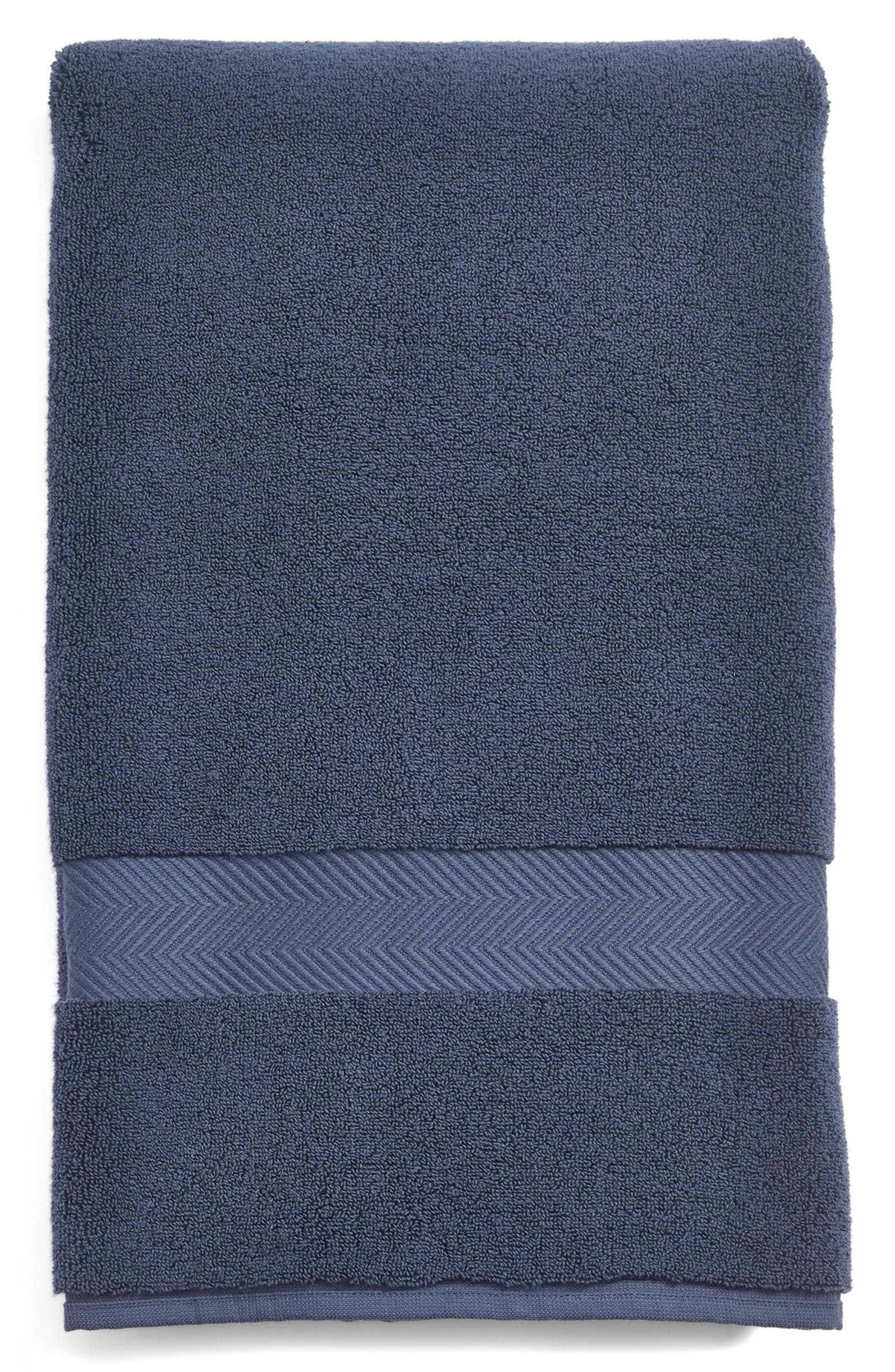 The towel in navy blue