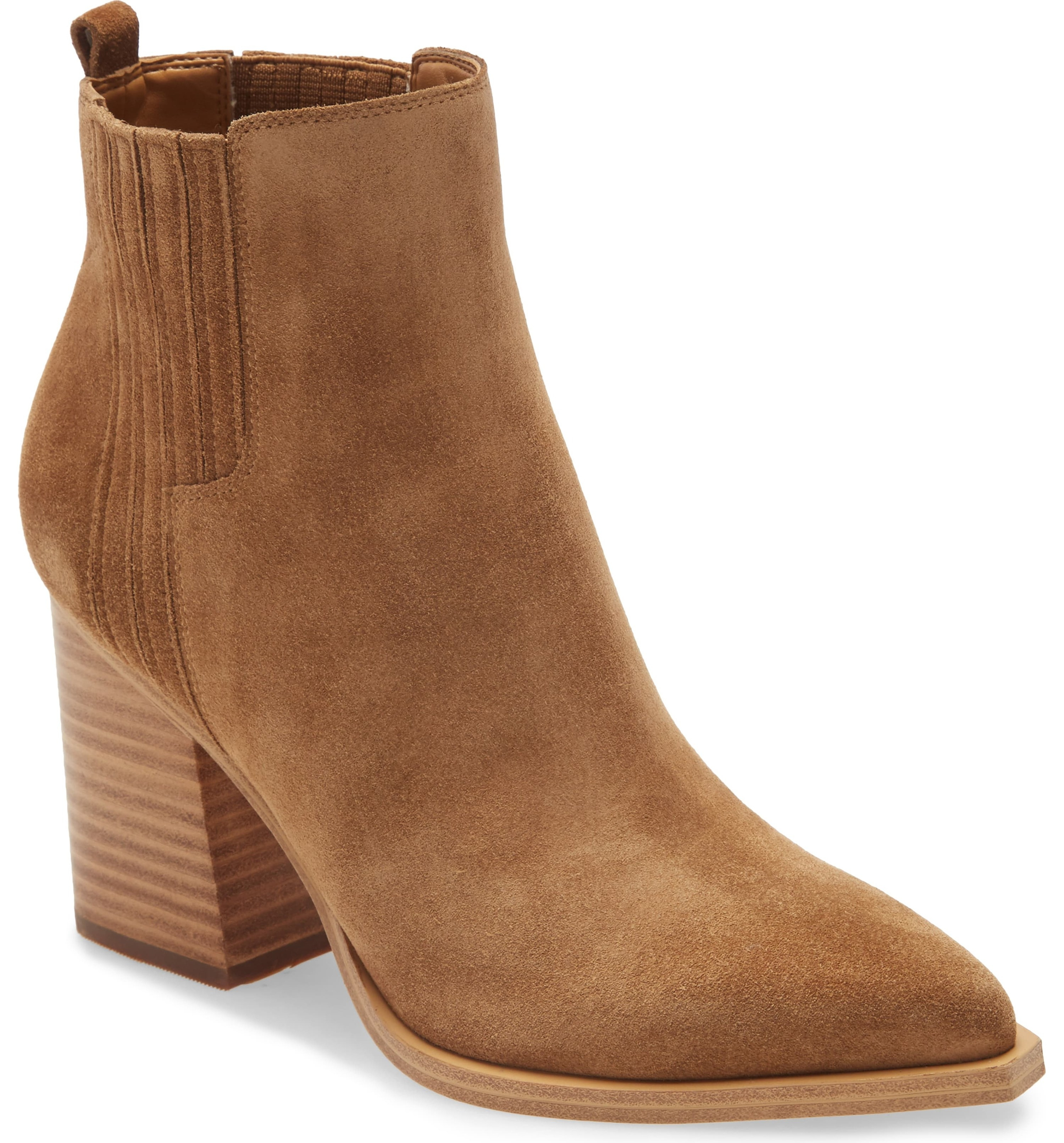suede tan booties