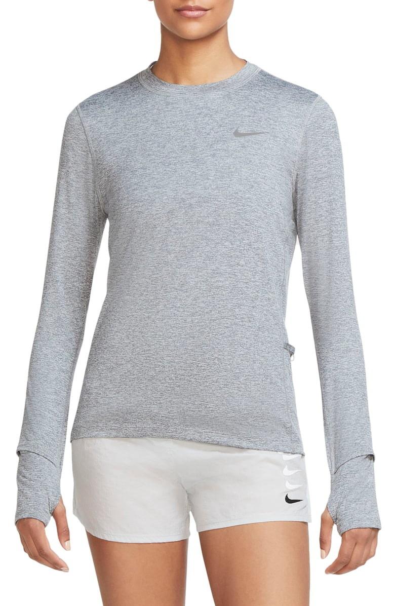 Model wearing Nike Element Dri-FIT running t-shirt