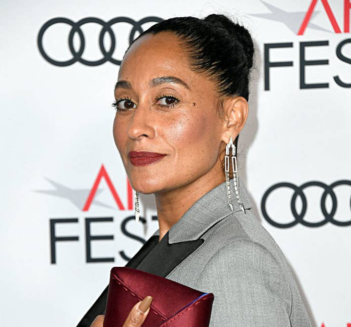 Tracee Ellis Ross posing at a Hollywood event