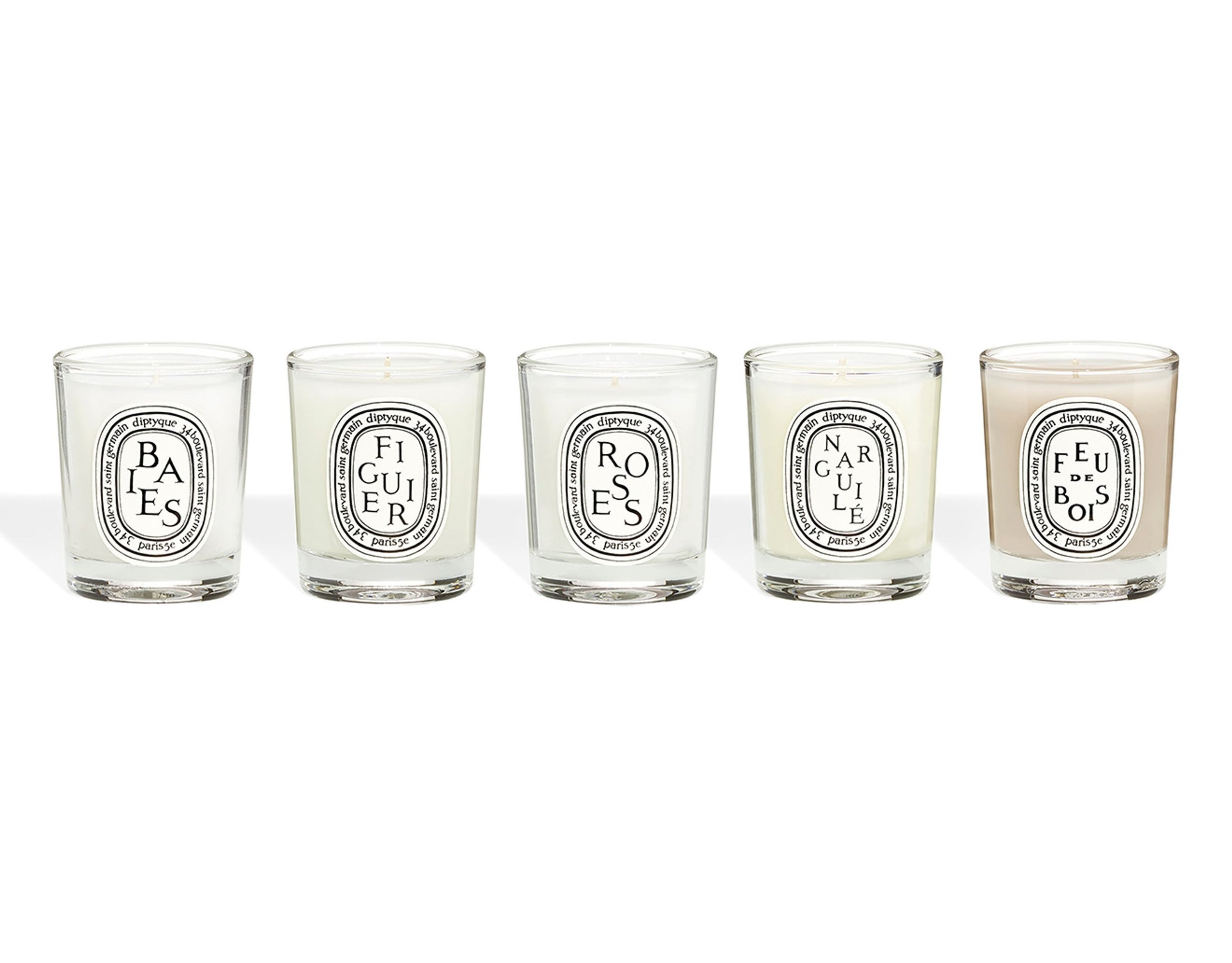 five glass candles