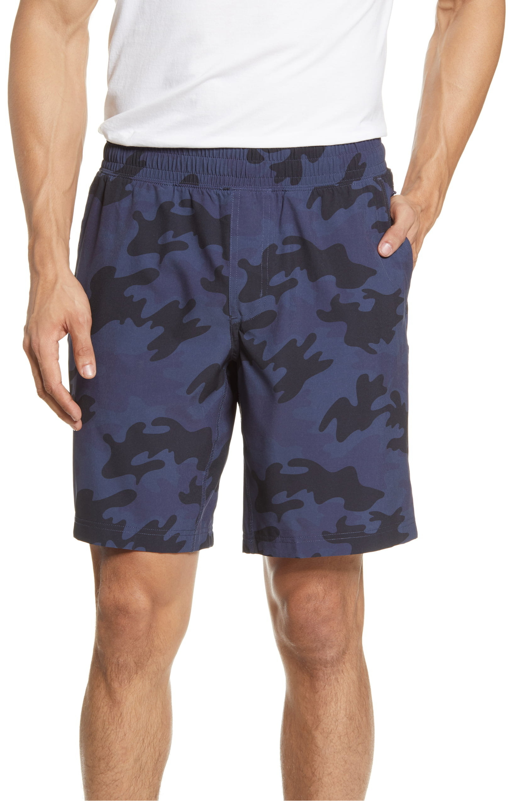 Model wearing Rhone Mako Athletic Shorts