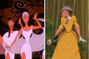 muses from hercules and jane from tarzan